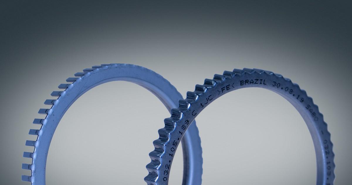 Nova roda fônica ondulada