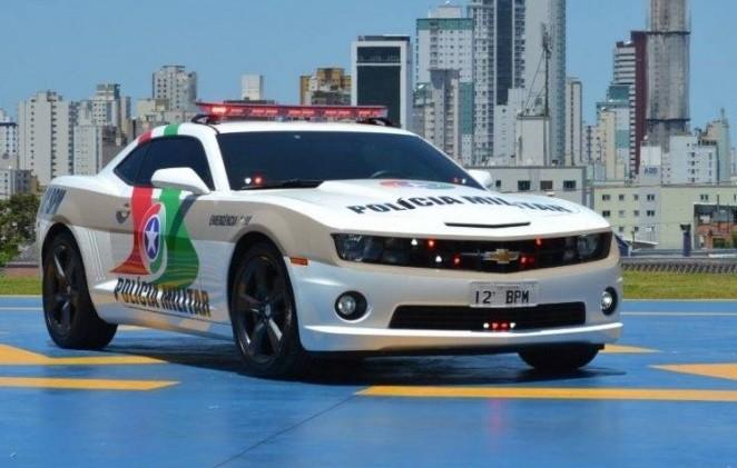 Carros de luxo que viraram viaturas policiais