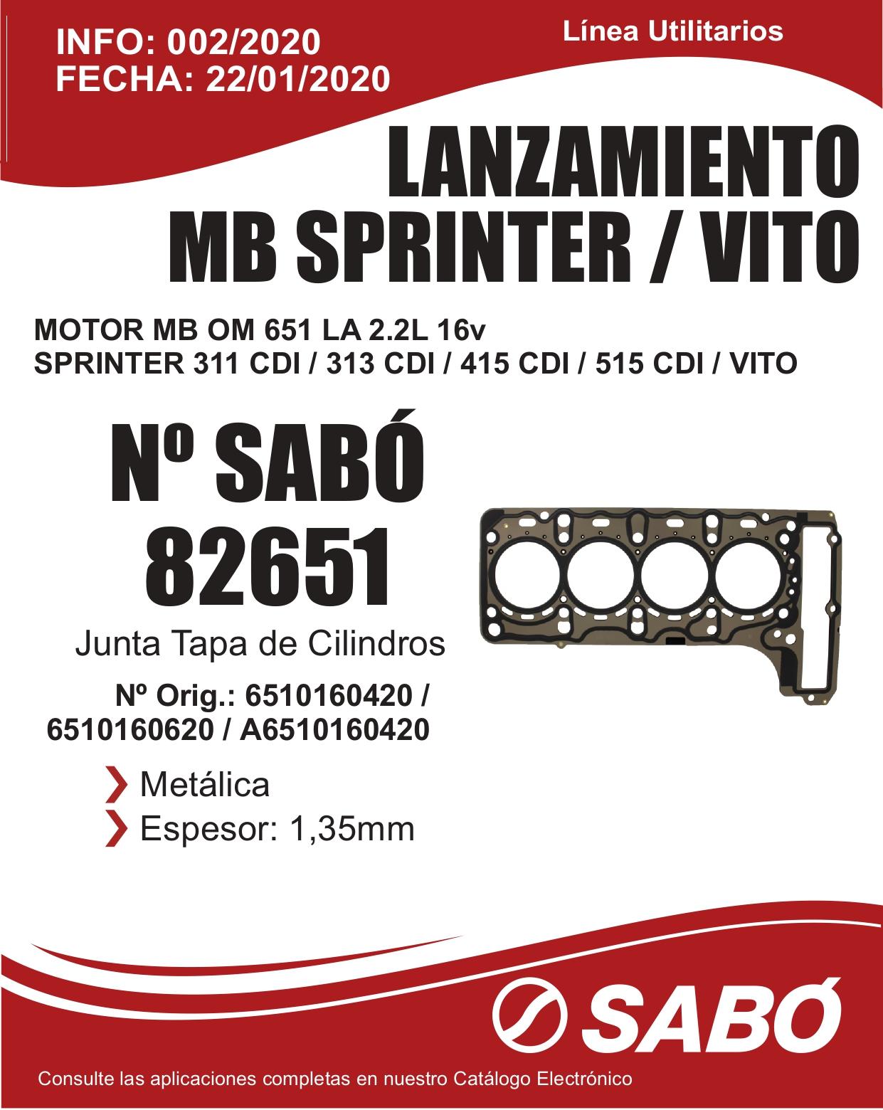 Info 002 Lanzamiento MB Sprinter Vito Motor OM 651 2.2L 16V Linea Utilitarios_page-0001