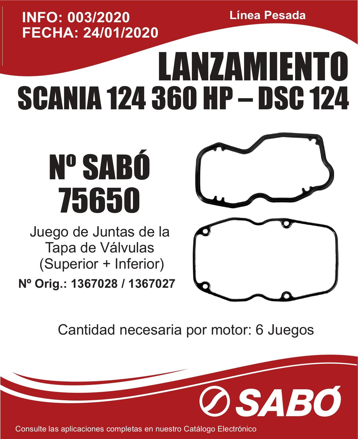 Info 003 Lanzamiento Scania 124 Juego Juntas Tapa Valvulas Linea Pesada_page-0001