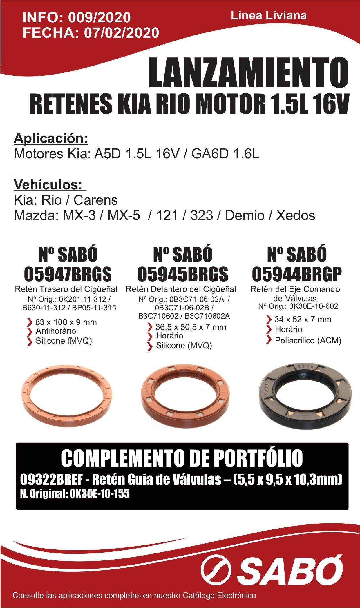 Info 009 Lanzamiento Retenes Kia Rio Motor A5D 1.5L 16V_GA6D 1.6L Linea Liviana_page-0001