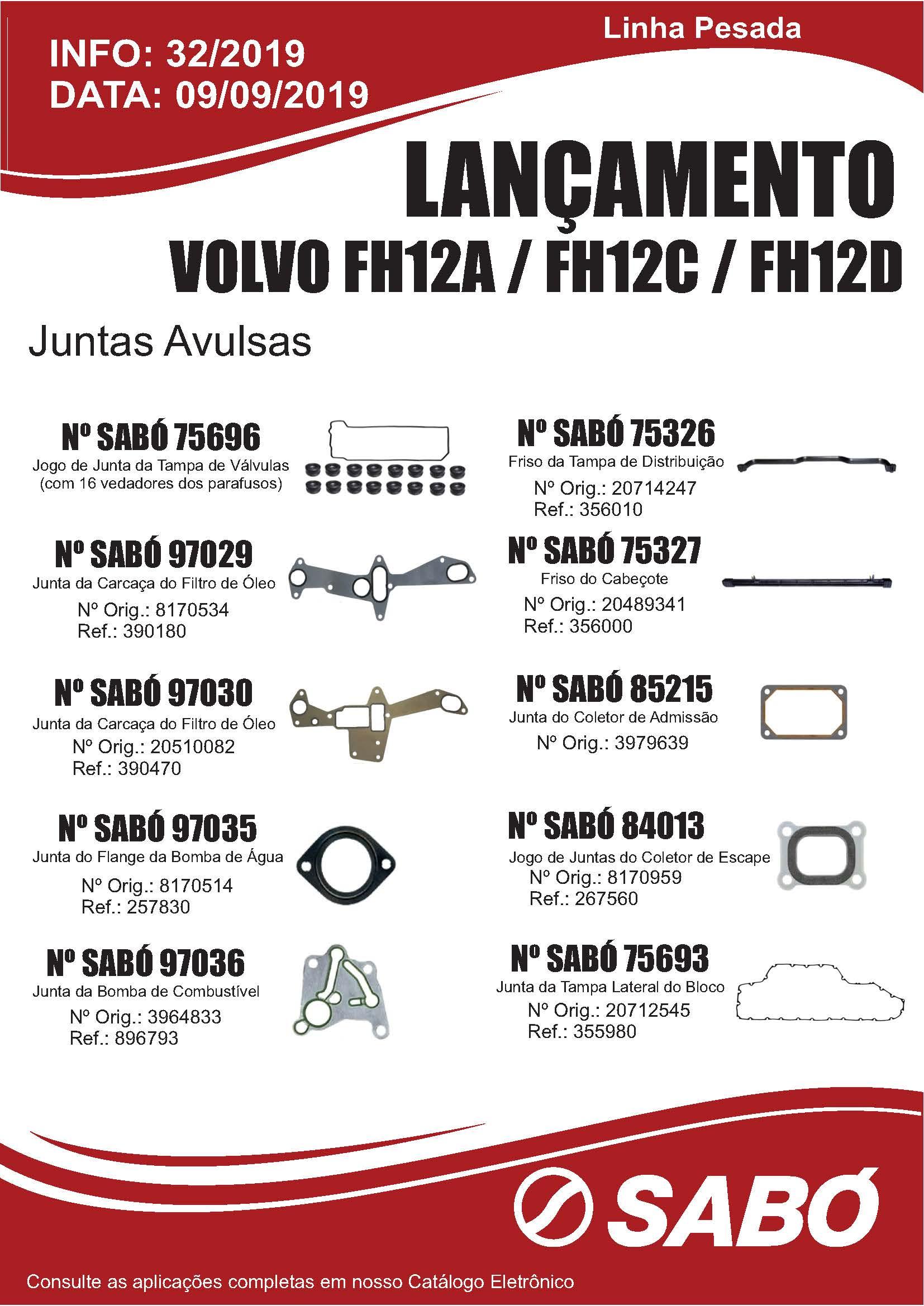 Info 032 - Lancamento Juntas Avulsas Volvo