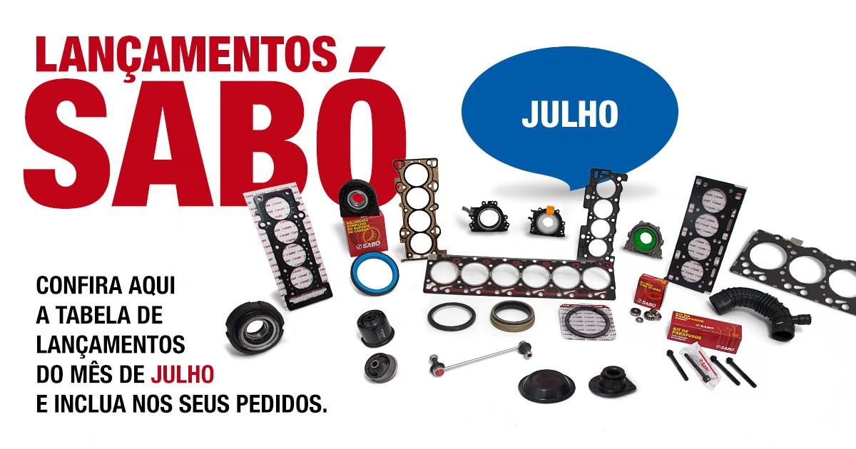 lançamentos SABÓ JULHO